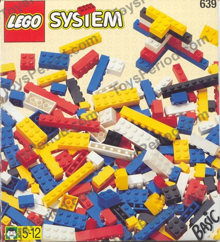 lego 639 bulk basic bricks for 5 plus set parts inventory and instructions lego reference guide. Black Bedroom Furniture Sets. Home Design Ideas