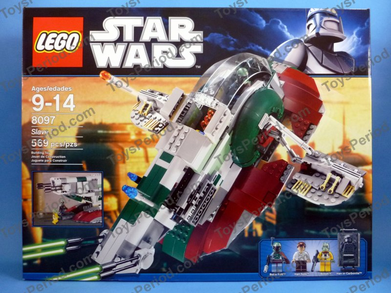 Star Wars Sets Lego 8097 Slave I Retired Star Wars Boba Fett Ship Set Misb