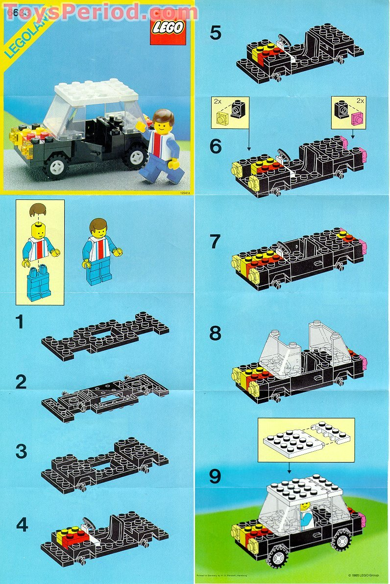 Lego 6633 family car set parts inventory and instructions for How to build a house step by step instructions