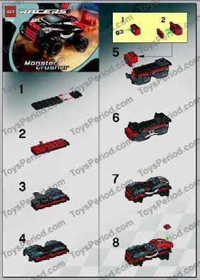 LEGO 8642 Monster Crusher Set Parts Inventory and Instructions ... e4d719e0e8e