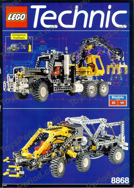 lego 8868 air tech claw rig set parts inventory and instructions lego reference guide. Black Bedroom Furniture Sets. Home Design Ideas