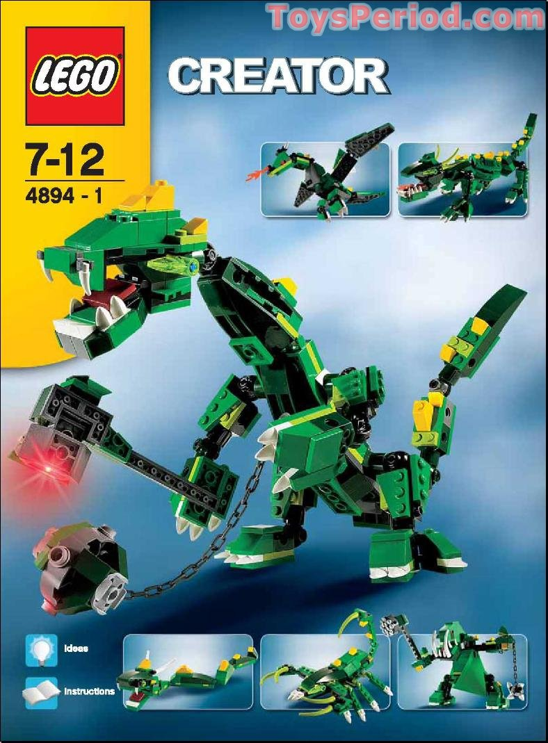 Lego 4894 Mythical Creatures Set Parts Inventory And Instructions