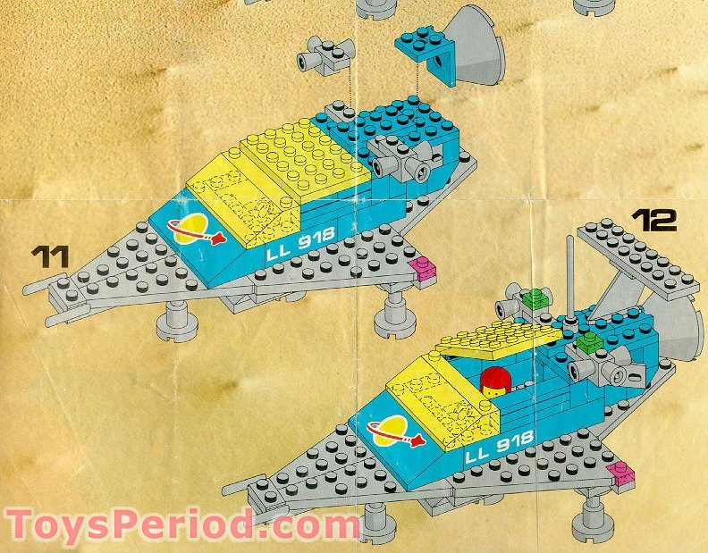 Lego 918 1 Space Transport Set Parts Inventory And Instructions