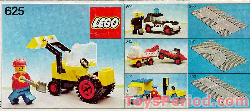 Lego 625 Tractor Set Parts Inventory And Instructions Lego