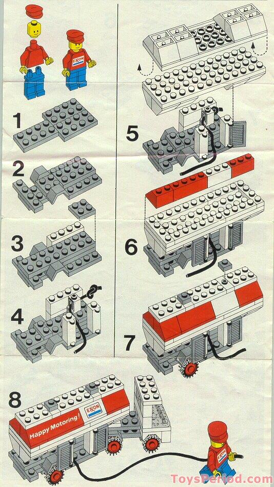 Lego 554 Exxon Fuel Pumper Set Parts Inventory And