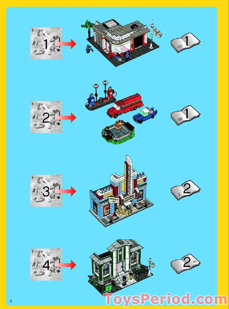 Lego 10184 Town Plan Set Parts Inventory And Instructions Lego Reference Guide