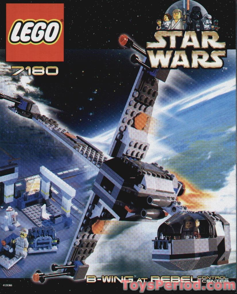 Lego 7180 b wing at rebel control center set parts - Lego star wars 1 2 3 4 5 6 ...