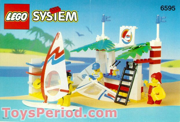 Lego 6595 Surf Shack Set Parts Inventory And Instructions