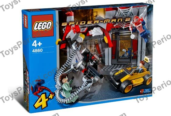 Lego 4860 doc ock 39 s cafe attack set parts inventory and - Lego spiderman 2 ...