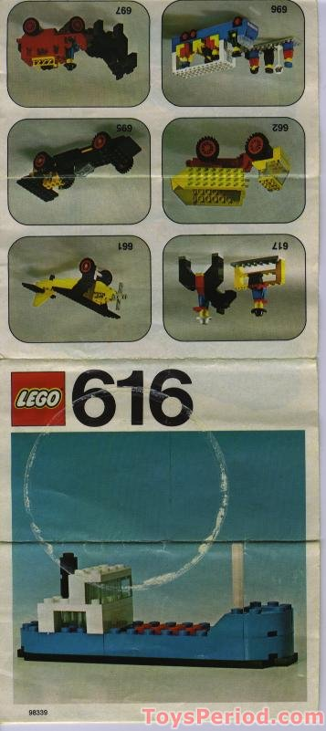 LEGO 616 Cargo Ship Set Parts Inventory and Instructions ...