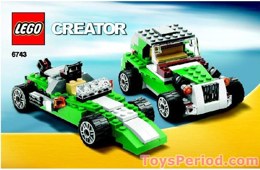 Lego 6743 Street Speeder Set Parts Inventory And Instructions Lego