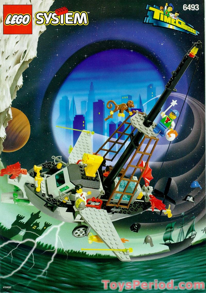 Lego 6493 Flying Time Vessel Set Parts Inventory And