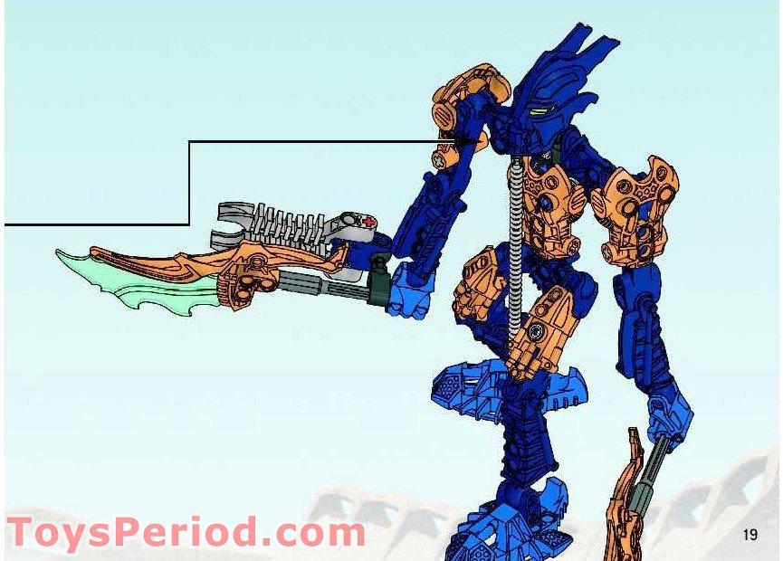 1x Lego Bionicle Instructions A5 for Set Glatorian TARIX 8981