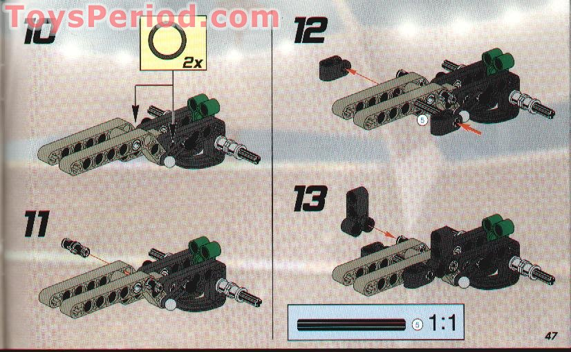 LEGO Bauanleitung Instruction Racers 8469  ungelocht