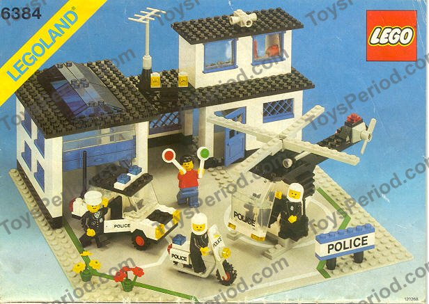Lego 6384 Police Station Set Parts Inventory And Instructions Lego