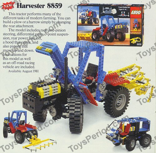 LEGO 8859 Tractor Set Parts Inventory and Instructions - LEGO