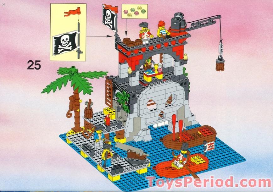 lego 6279 skull island set parts inventory and