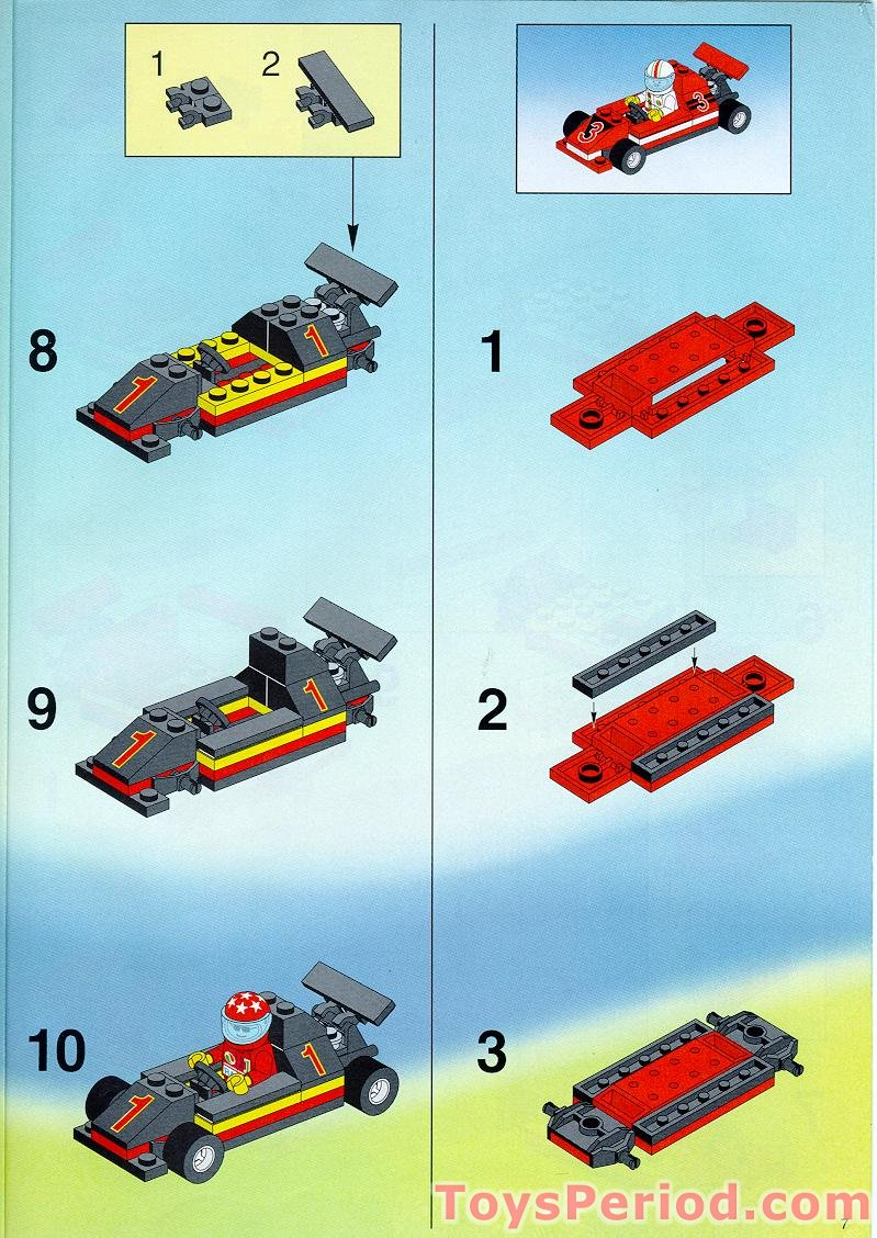 Lego 6337 Fast Track Finish Set Parts Inventory And