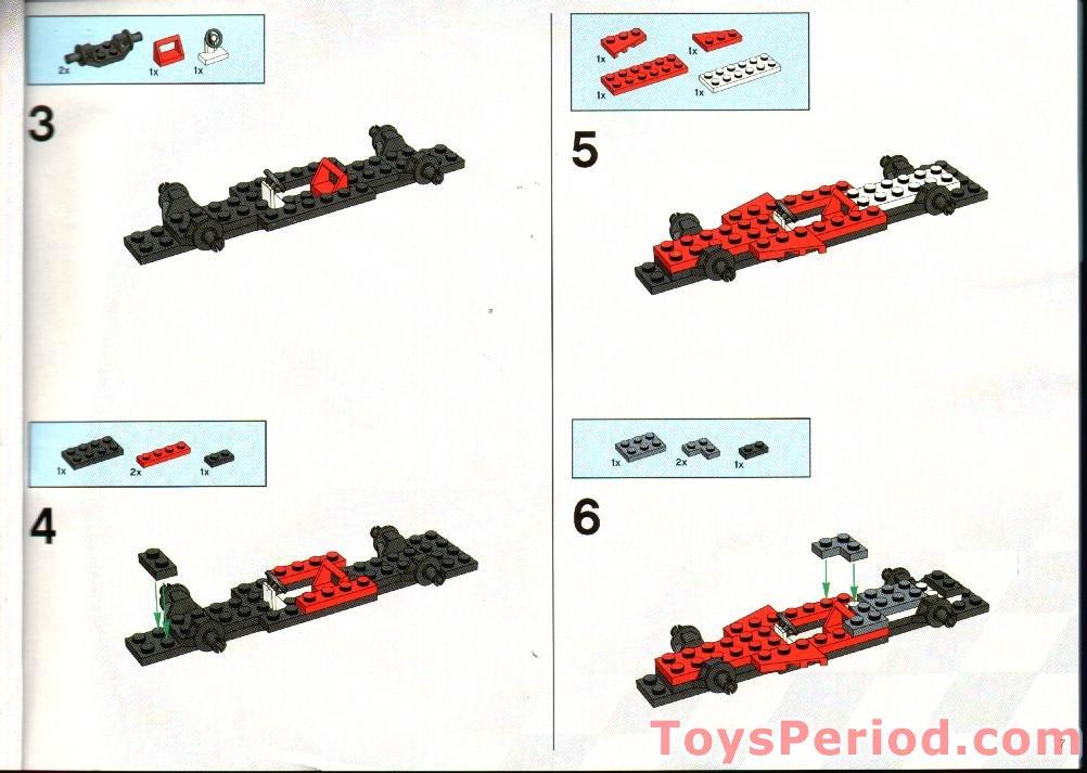 Lego 8654 scuderia ferrari truck set parts inventory and - Lego modeles de construction ...