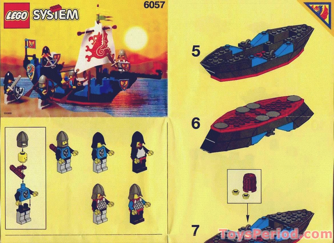 Lego 6057 Sea Serpent Set Parts Inventory And Instructions