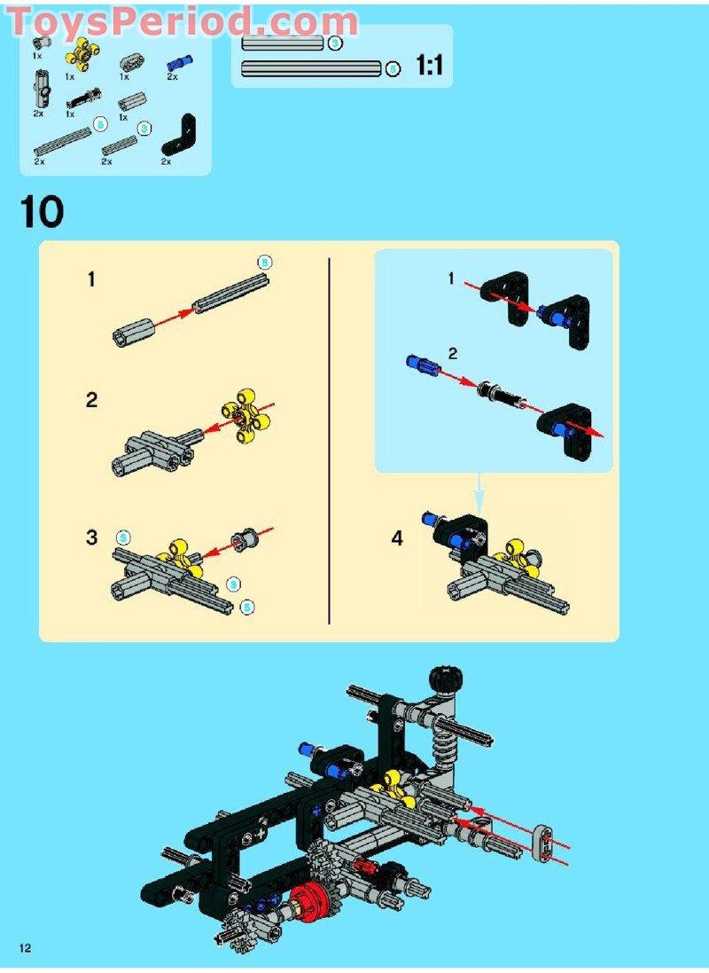 lego technic tractor instructions