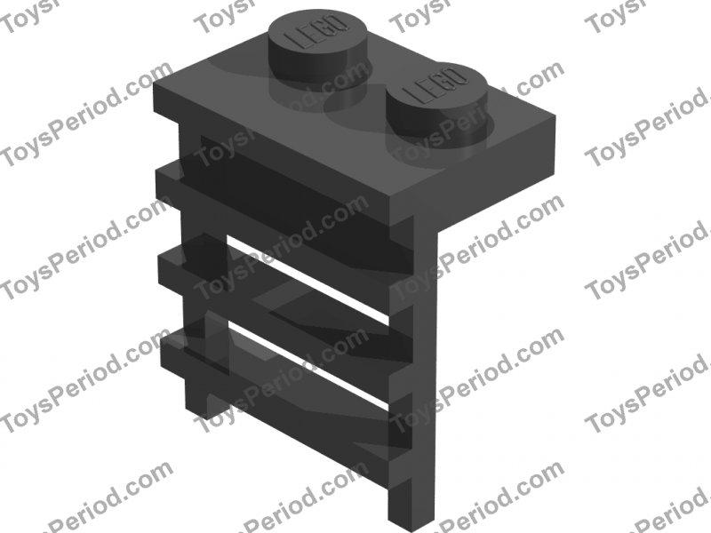 Plate 1 x 2 with Ladder DARK BLUISH GRAY 4175 2 LEGO Parts~