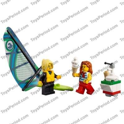 Kayaking Guy Minifigure Red Kayak Oar Water Sport NEW LEGO 60153 Beach People