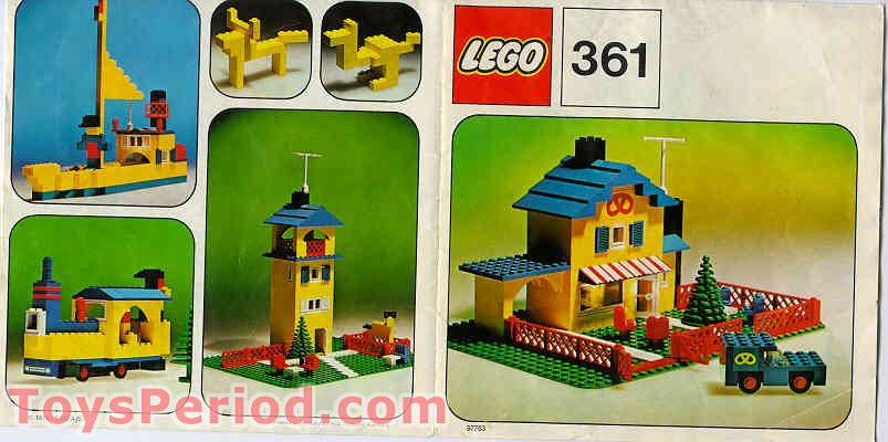 Lego 361 1 Tea Garden Cafe With Bakers Van Set Parts Inventory And