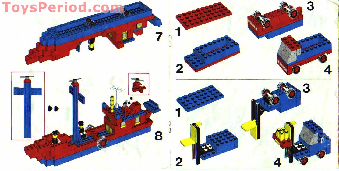 Lego 10 Blue Plates Modified 1 x 2 with Door Rail Pieces