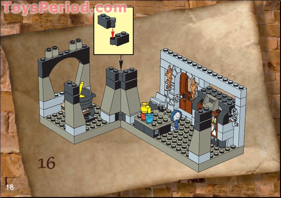 LEGO 4705 Snape's Classroom Set Parts Inventory and ...