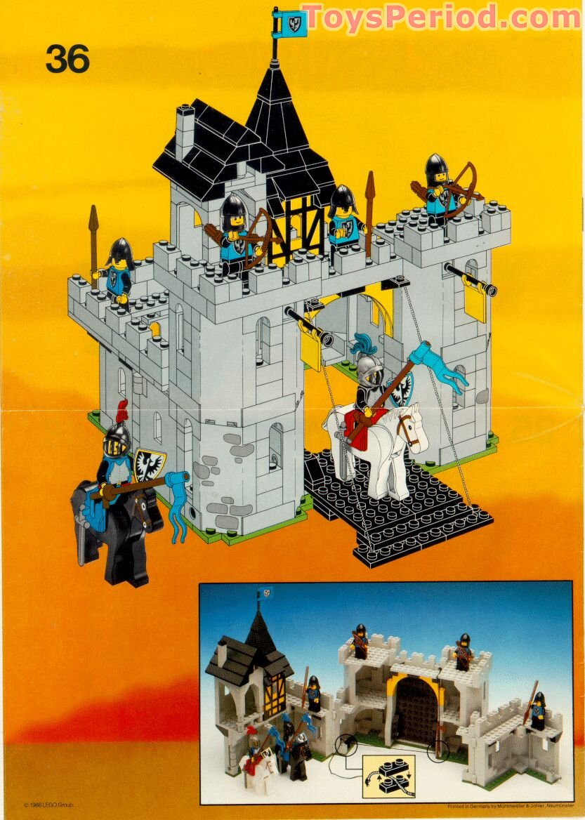 lego 6074 black falcon 39 s fortress set parts inventory and instructions lego reference guide. Black Bedroom Furniture Sets. Home Design Ideas