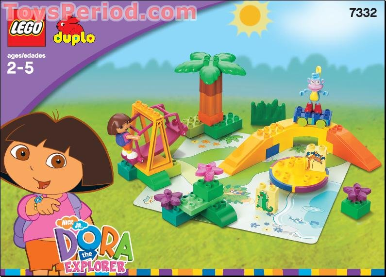Lego 7332 Dora And Boots At Play Park Set Parts Inventory