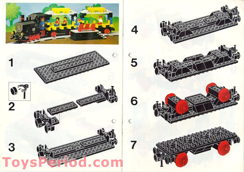 lego passenger train instructions