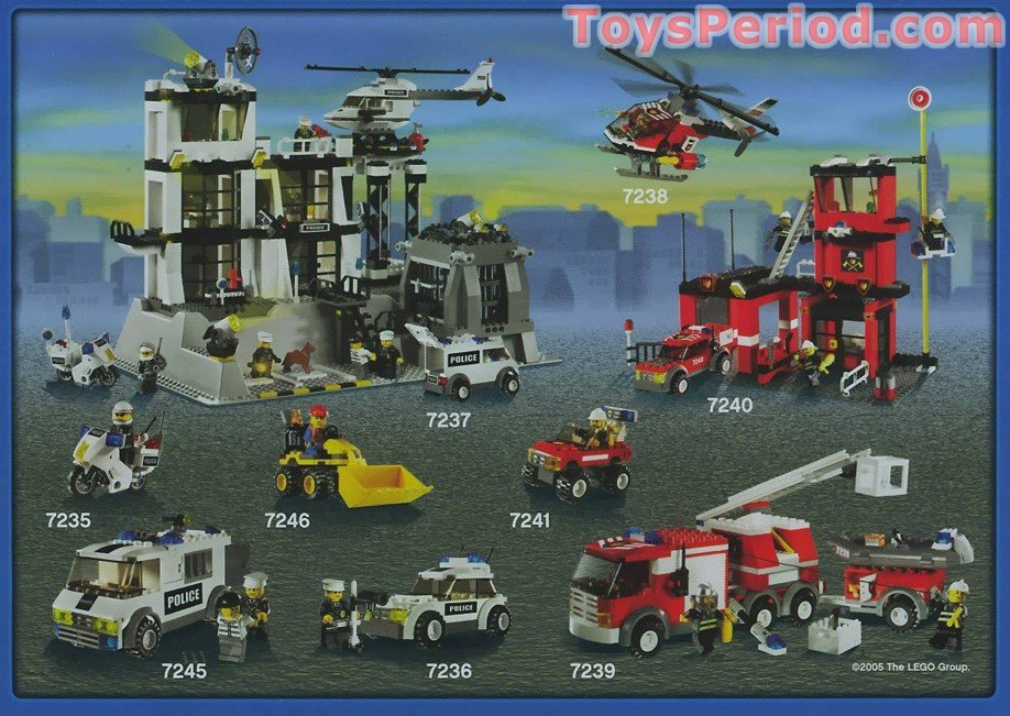 Lego 7240 Fire Station Set Parts Inventory And Instructions Lego