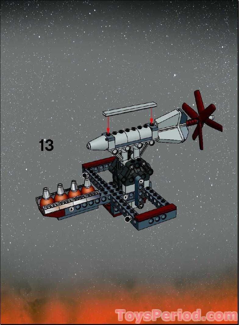 Set 7260 Wookiee Catamaran LEGO Star Wars DkRed Hinge Brick ref 30388