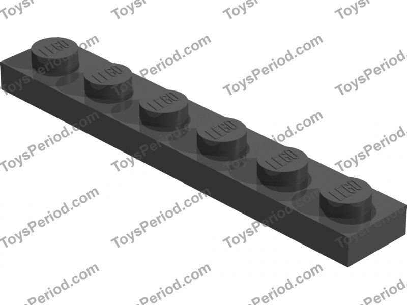 Piastra 1x6 Grigio chiaro 366602 old gray 2x LEGO 3666