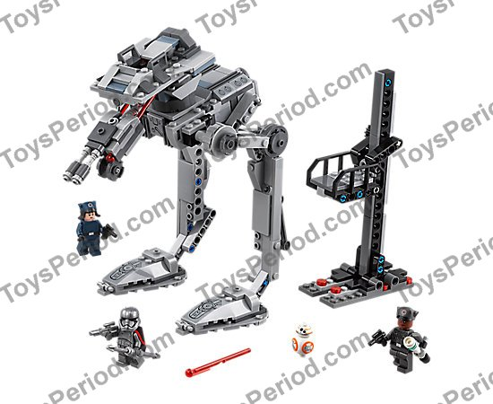 Lego Lot of 5 New Dark Bluish Gray Bar 1L with Clip Mechanical Claw Pieces Parts