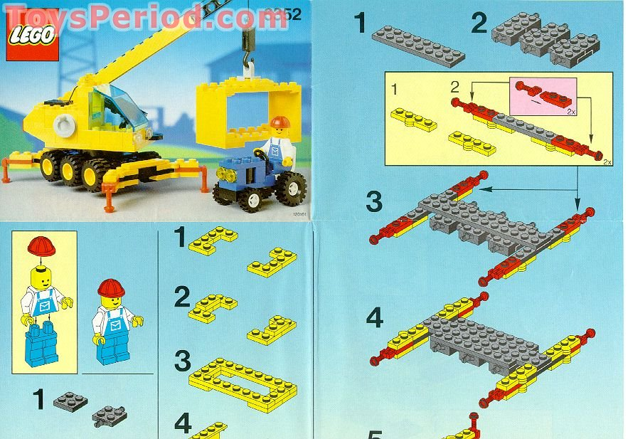Lego 6352 Cargomaster Crane Set Parts Inventory And Instructions