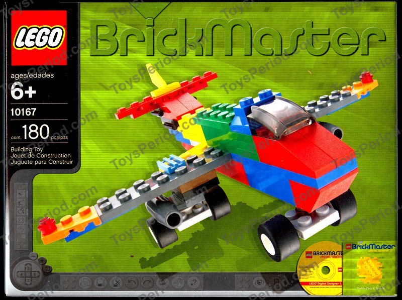 Lego 10167 Brickmaster Kit With Digital Designer Cd Set Parts
