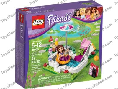 Lego 41090 Olivia S Garden Pool Set Parts Inventory And