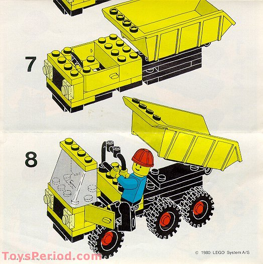 Lego 6648 2 Dump Truck Set Parts Inventory And Instructions Lego