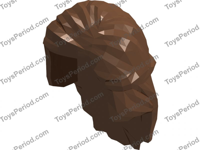 LEGO Brown Minifig Headgear Hair Female Mid-Length with Braid