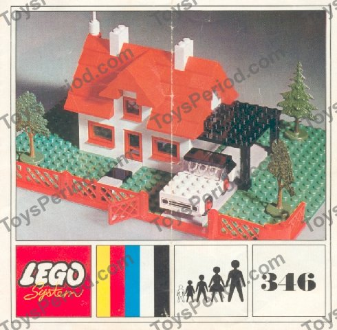LEGO 346-2 House with Car Image 1