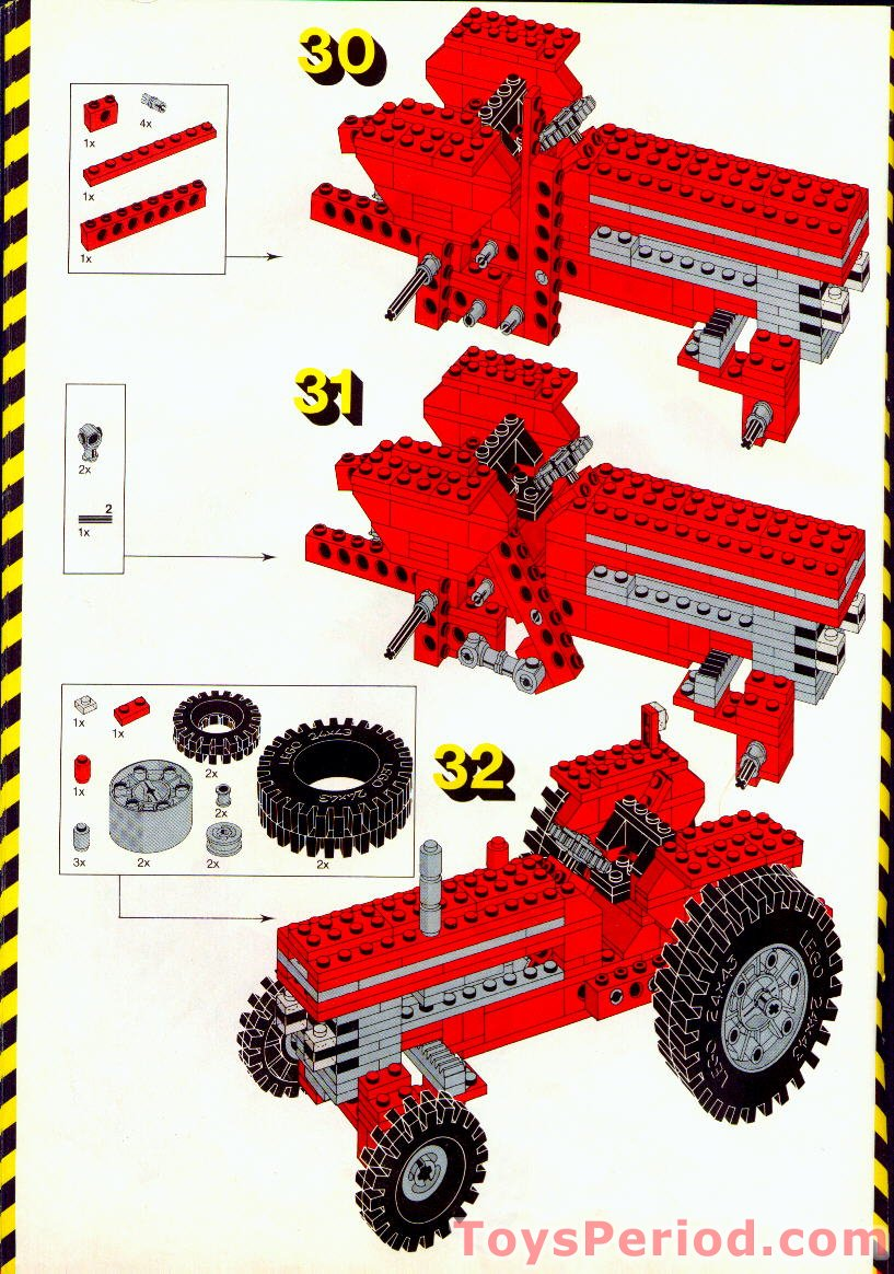 lego 851 tractor set parts inventory and instructions lego reference guide. Black Bedroom Furniture Sets. Home Design Ideas