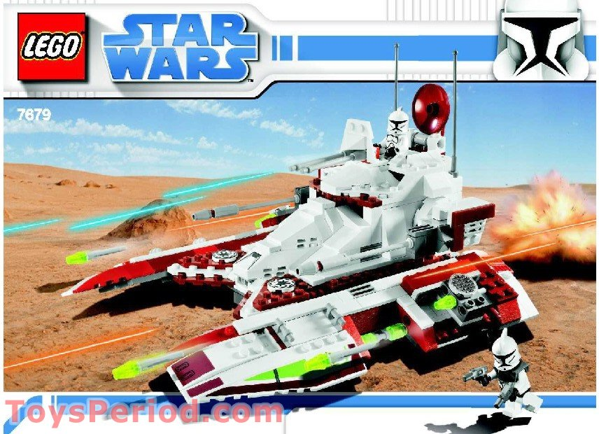 Lego 7679 Republic Fighter Tank Set Parts Inventory And Instructions