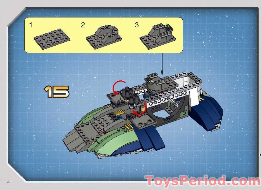 lego boba fett slave 1 instructions