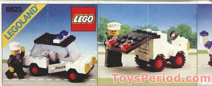 LEGO 6623 Police Car Set Parts Inventory and Instructions