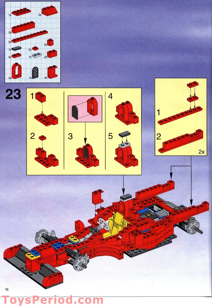 lego 2556 shell promotional set ferrari formula 1 racing car set parts inventory and. Black Bedroom Furniture Sets. Home Design Ideas