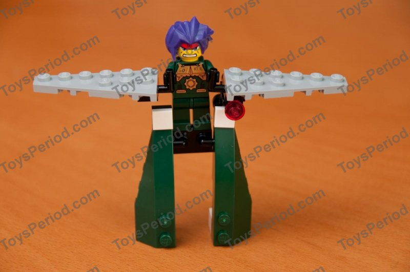 Ryo MINIFIG // MINI FIGURE Dark Green Outfit LEGO Exo-Force