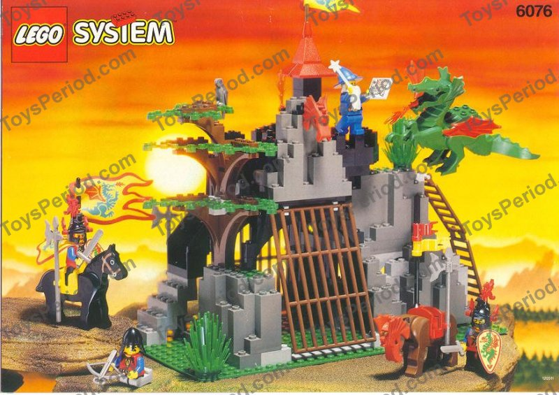 6076-1 LEGO VINTAGE  MINIFIG   Dark Dragon/'s Den black horse